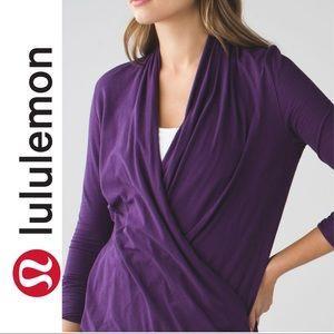 Lululemon Wrap Radiant Long Sleeve purple